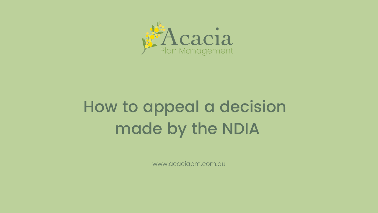 How to appeal a decision made by the NDIA