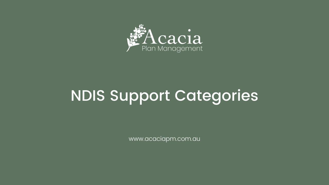 Understanding NDIS Support Categories Fact Sheet