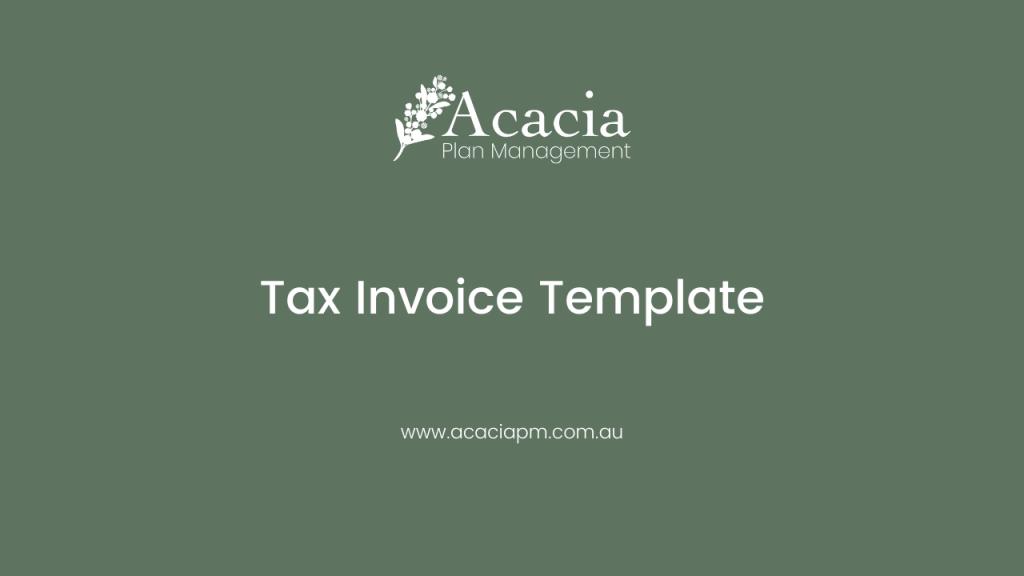 Acacia Plan Management Tax Invoice Template
