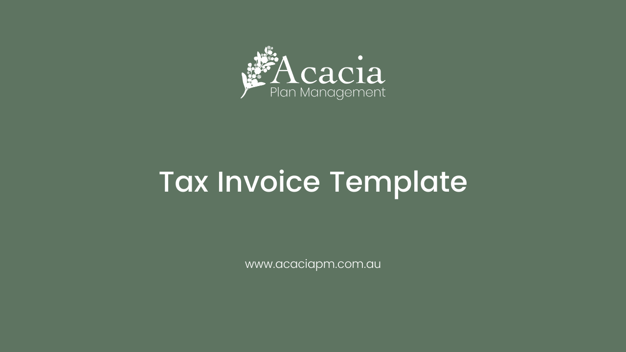 Tax Invoice Template for Providers