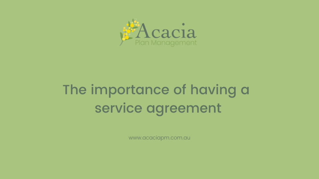 Acacia Plan Management service agreement