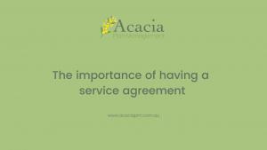 Acacia Plan Management service agreement
