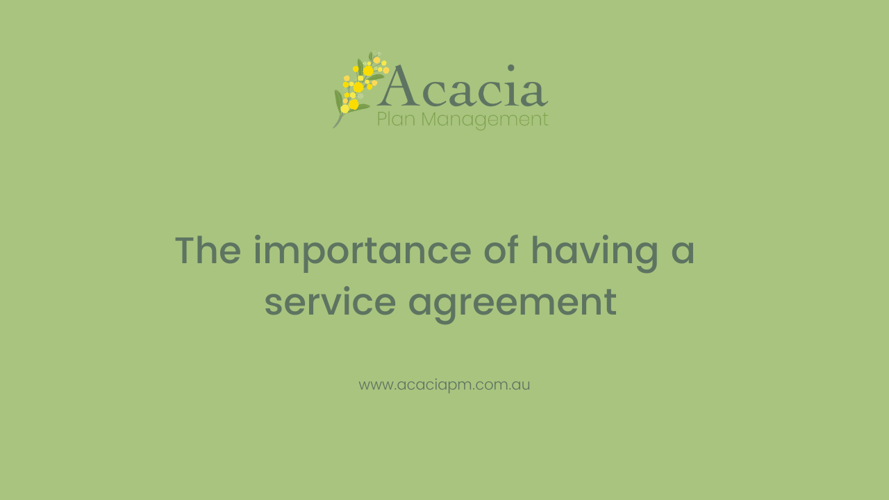 The importance of having a service agreement