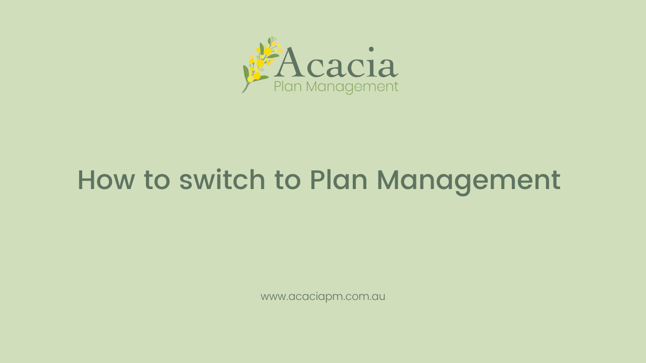 How to switch to Plan Management